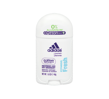 Image of product Adidas - Cotton Tech Aluminium Free Women Deodorant, 45 g, Fitness Fresh