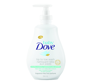 Tip to Toe Wash Sensitive Moisture, 384 ml – Baby Dove : Gentle soap