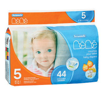 Baby Diapers, 44 units