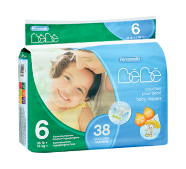 Image of product Personnelle Bébé - Baby Diapers, 38 units
