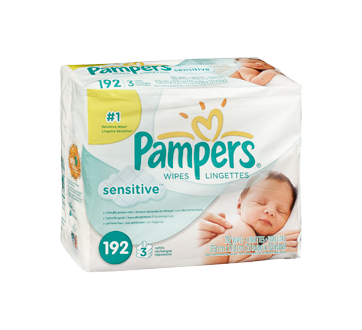 Image 2 of product Pampers - Sensitive - Wipes, 192 units, Travel Size