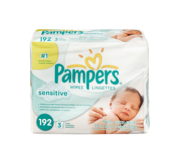 Image 3 of product Pampers - Sensitive - Wipes, 192 units, Travel Size