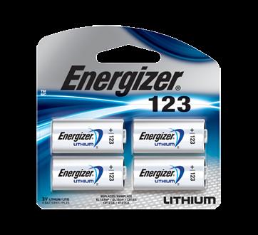 Lithium 123 Batteries, 4 units