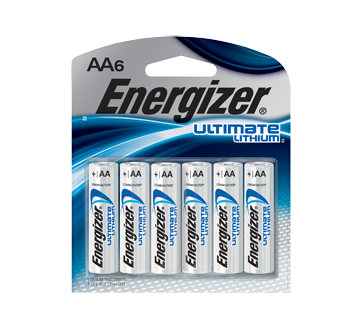 AA Ultimate Lithium Batteries, 6 units