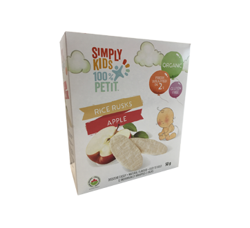 Organic Rice Rusks, 50 g, Apple