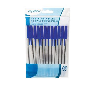 Ball Point Pens, 12 units, Blue