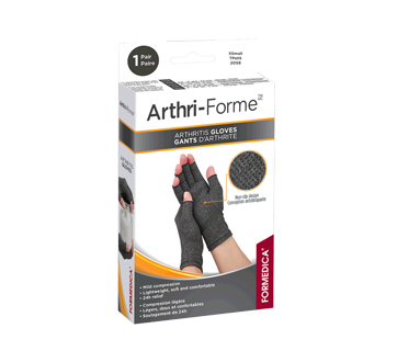 Image of product Formedica - Arthri-Forme Arthritis Gloves, 1 unit, Grey, Extra-Small