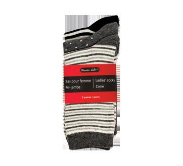 Ladie's Socks Crew, 3 pairs
