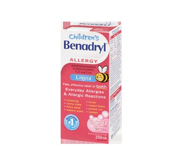 Children's Benadryl Liquid, 250 ml, Bubble gum – Benadryl