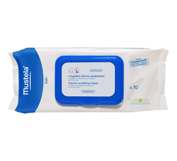 Dermo-Soothing Wipes, 70 units, Delicately Fragranced