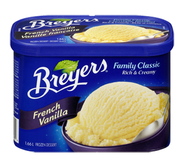 Image 1 of product Breyers - Family Classic Frozen Dessert, 1.66 L, French Vanilla
