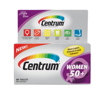 Image of product Centrum - Supplement for Women 50+, 90 units