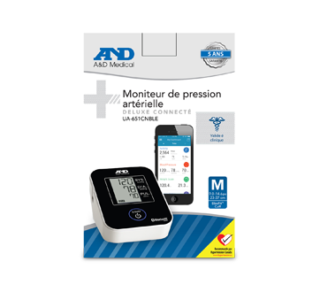 Image of product A&D Medical - Deluxe Connected Blood Pressure Monitor, 1 unit