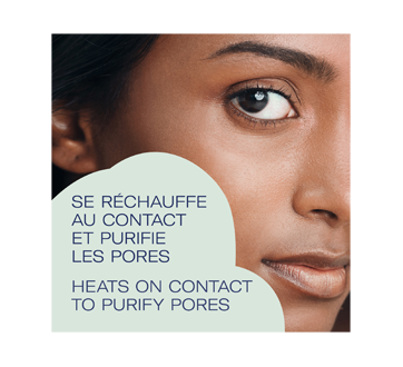 Image 3 of product Bioré - Self Heating One Minute Mask with Natural Charcoal, 4 x 7 g