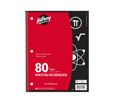 Maths & Sciences Coil Notebook 80 Pages, 1 unit