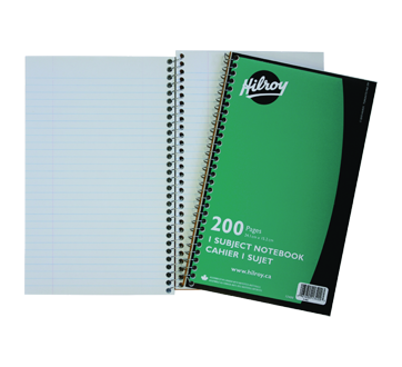 1 Subject Coil Notebook, 1 unit