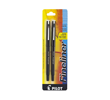 Fineliner Fine Point Marker Pen, 2 units, Black