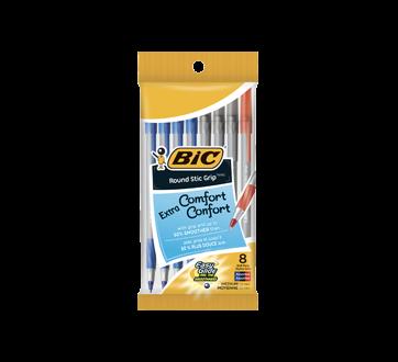 Round Stic Grip Pens, 8 units
