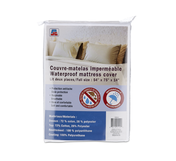 Image of product PJC - Waterproof Mattress Cover, 1 unit, Full Size Bed