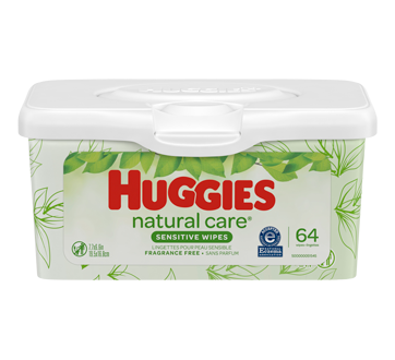 Natural Care Wipes, 64 units, Unscented