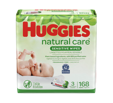 Natural Care Wipes, 168 units, Unscented