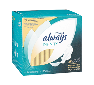 Image 2 of product Always - Infinity FlexFoam Pads for Women, Regular Absorbency, 18 units, Unscented