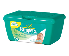 Image of product Pampers - Natural Clean - Wipes, 72 Counts, Tub