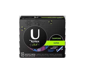 Kotex U Click Tampon Super, 18 units