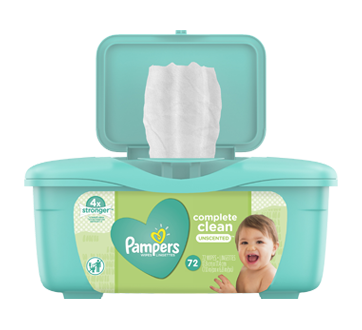 Complete Clean Baby Wipes, 72 units, Unscented