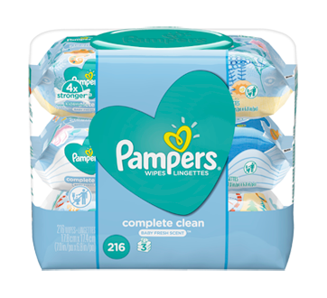Baby Wipes Complete Clean Scented 3X Pop-Top, 216 units