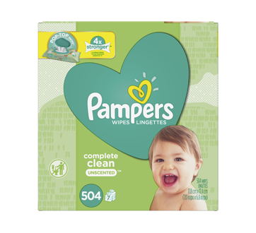 Complete Clean Baby Wipes, 504 units, Unscented