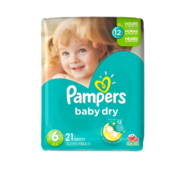 Baby Dry Diapers 21 Units Size 6 Jumbo Pack Pampers