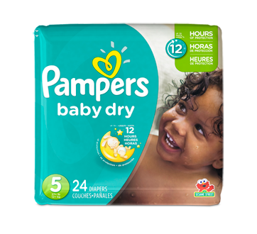 Baby Dry Diapers, 24 units, Size 5, Jumbo Pack
