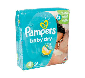 Baby Dry Diapers, 28 units, Size 4, Jumbo Pack