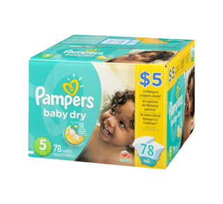Baby Dry Diapers 78 Diapers Size 5 Super Pack Pampers