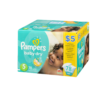 Baby Dry Diapers, 78 units, Size 5, Super Pack