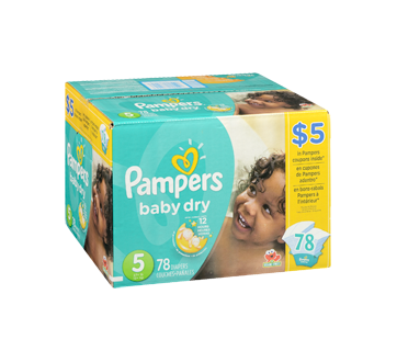 Image 2 of product Pampers - Baby Dry Diapers, 78 units, Size 5, Super Pack