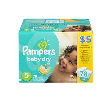 Image 3 of product Pampers - Baby Dry Diapers, 78 units, Size 5, Super Pack