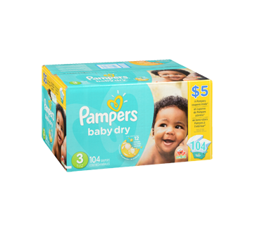 Image 2 of product Pampers - Baby-Dry Diapers, 104 units, Size 3
