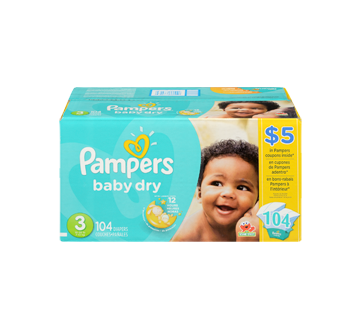 Image 3 of product Pampers - Baby-Dry Diapers, 104 units, Size 3