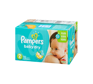 Baby Dry Diapers 112 Units Size 2 Super Pack Pampers Diaper