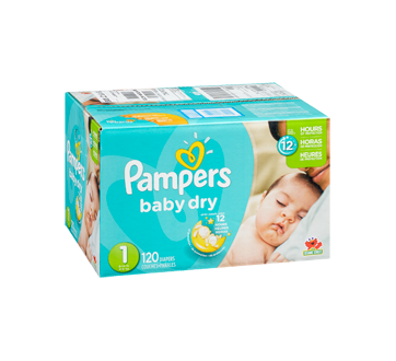 Image 2 of product Pampers - Baby Dry Diapers, 120 units, Size 1, Super Pack