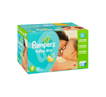 Image 2 of product Pampers - Baby Dry Diapers, 128 units, Size 4, Giant Pack