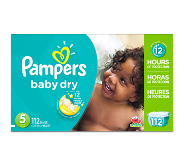 Baby Dry Diapers, 112 units, Size 5, Giant Pack