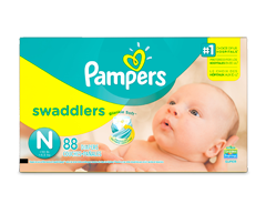 Image of product Pampers - Swaddlers Newborn Diapers Size 0, 88 units