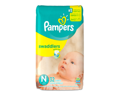 Image of product Pampers - Swaddlers Newborn Diapers Size 0, 32 units