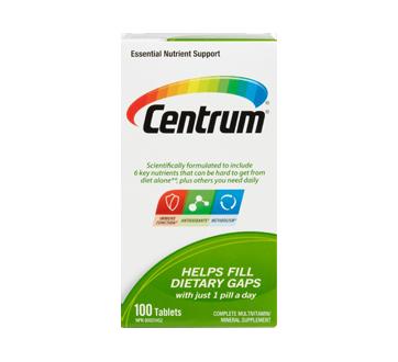 Image of product Centrum - Reg Tab Supplement, 100 units