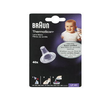 Image of product Braun - ThermoScan Lens Filter for Ear Thermometer, 40 units
