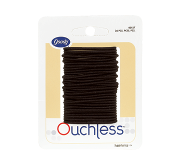 Ouchless Small Thin Elastics, 36 units, Black