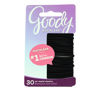 Ouchless Elastics, 30 units, Black